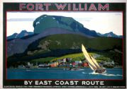 Fort William, Inverness-shire. Vintage LNER Travel Poster by Grainger Johnson